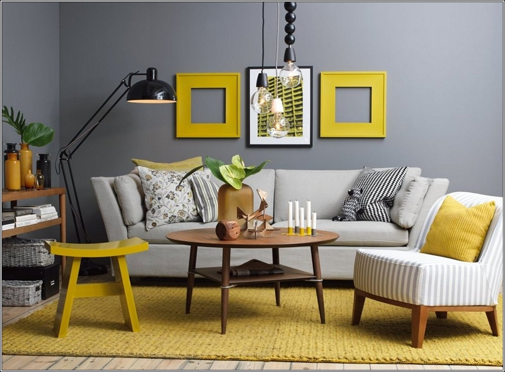 yellow and grey interior